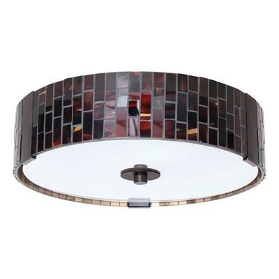 Eglo Troya Ceiling Light 2l Antique Brown Finish With