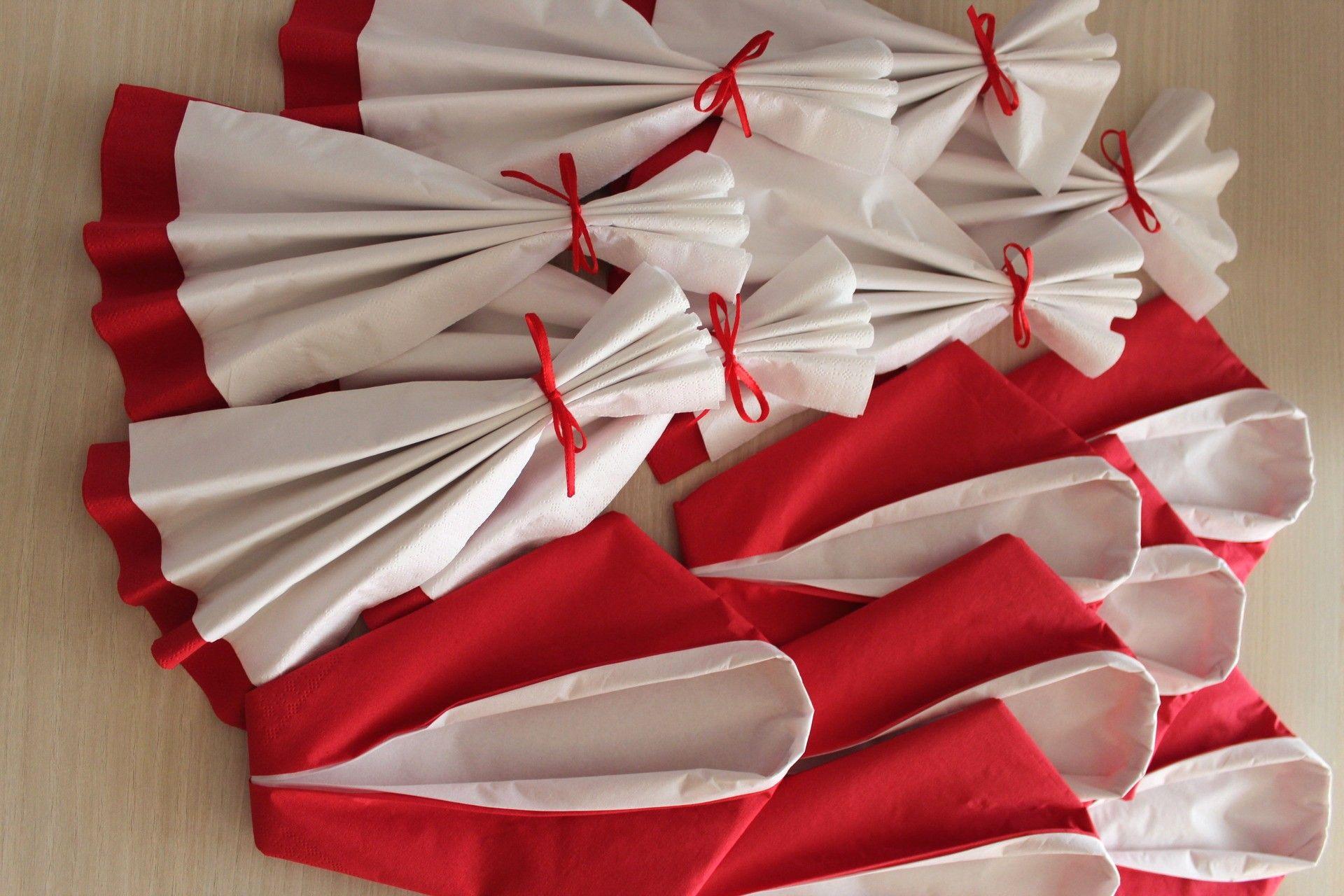 pliage serviette papier