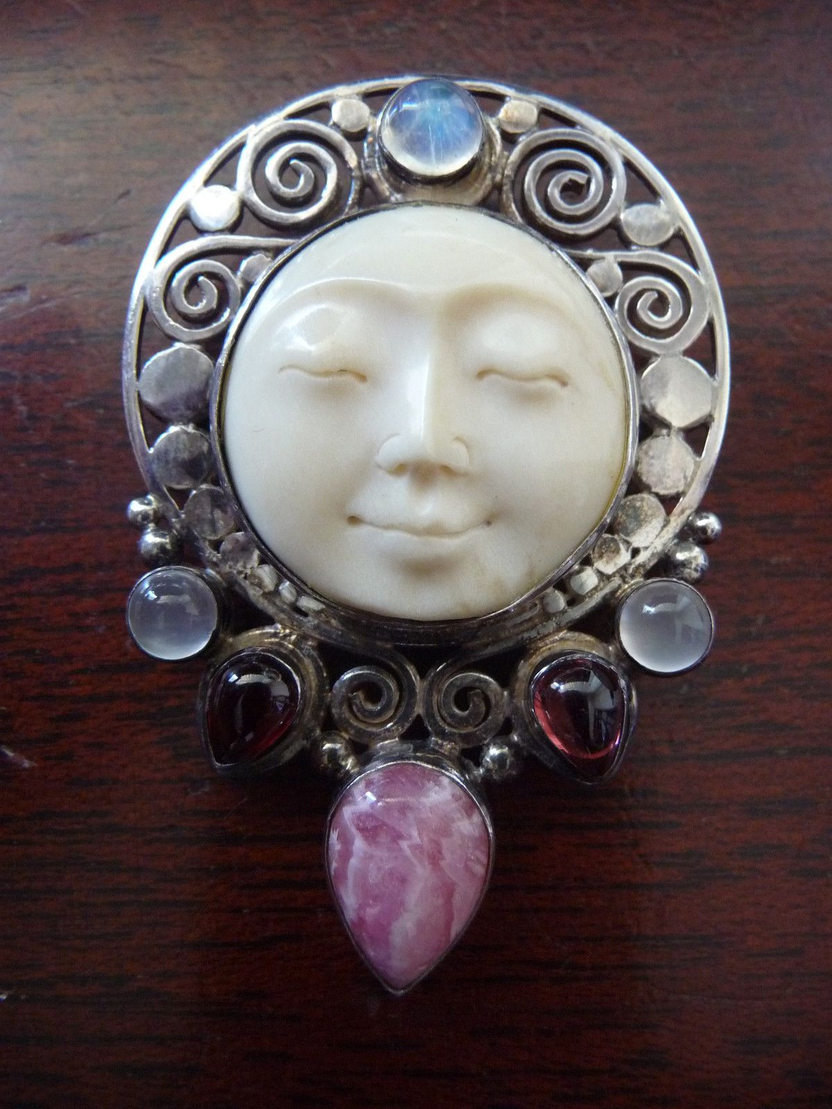 Carved Bone Moon Face Pendant I Would Buy It If It Wasn T Made Of Bone Faery Jewelry Wiccan Jewelry Bone Jewelry