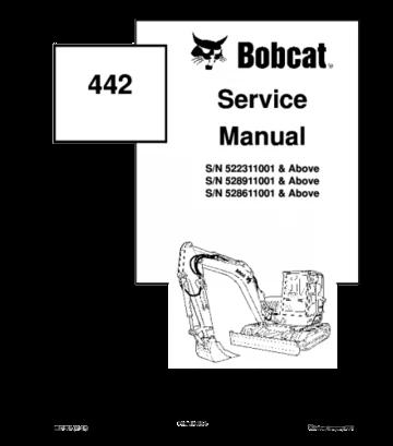 Bobcat 442 compact excavator service repair manual