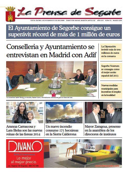 La Prensa de Segorbe nº 172 Marzo 2014 Periódico mensual del Excmo Ayuntamiento de #Segorbe