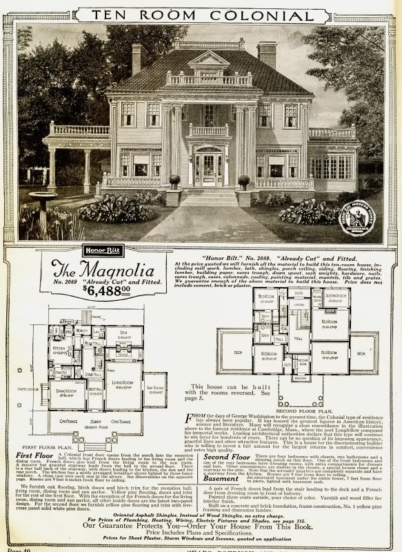 Flat pack house Sears Magnolia