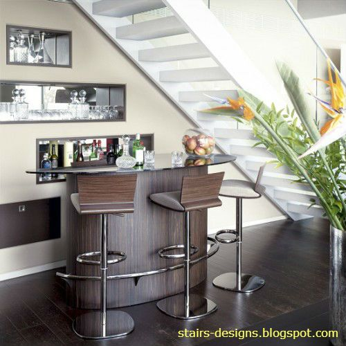 Mini Bar Under The Stairs Living Room Bar Modern Home Bar | Mini Bar Design Under Stairs | Stairs Cupboard | Basement Remodeling | Wine | Storage | Basement Stairs Ideas