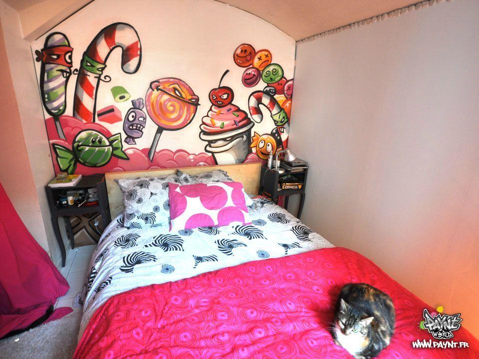 sweet-Graffiti-chambre-decoration-interieur-bonbon-sucrerie-graff ...