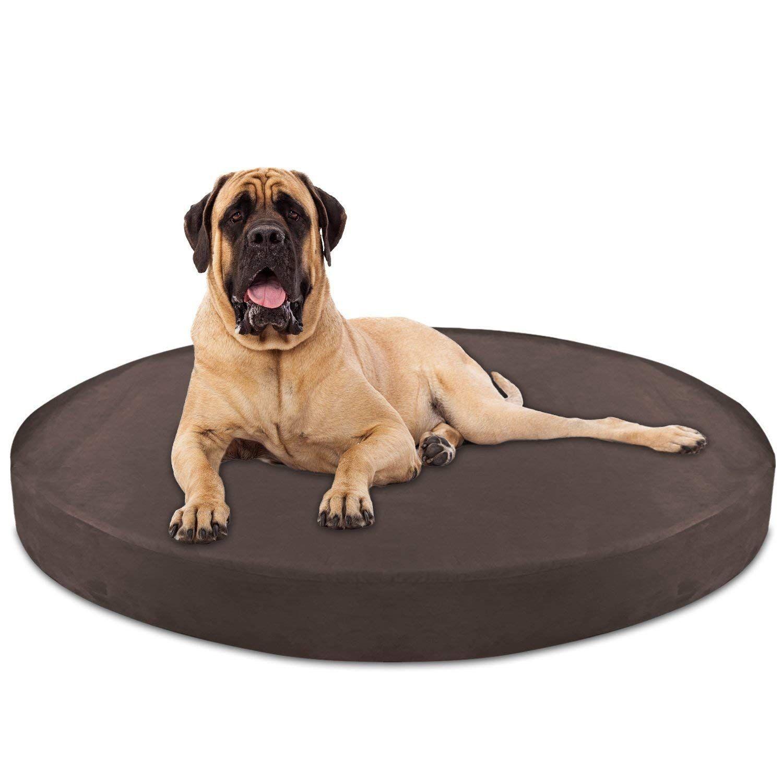 KOPEKS Deluxe Orthopedic Memory Foam ROUND Dog Bed JUMBO