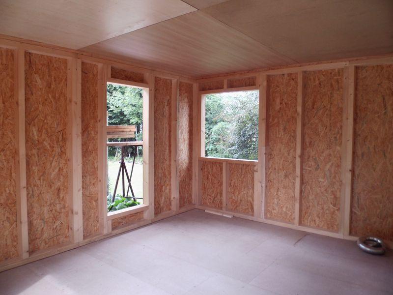 Außenverkleidung anbringen und Türrahmen einbauen   Sauna ...