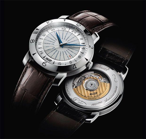 Tissot Heritage Navigator 160th Anniversary Caseback Anniversary Watches Mens Watches Leather Tissot