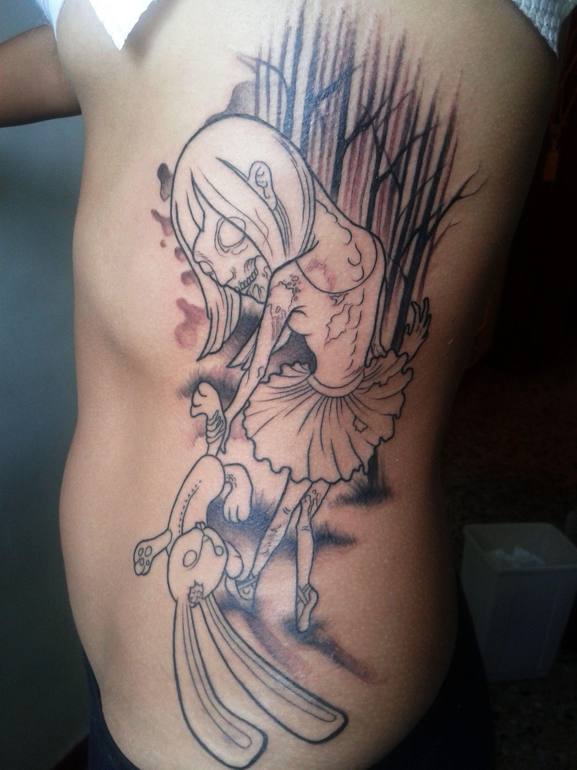 zombie girl new school tattoo | Inked | Pinterest | Zombie ...