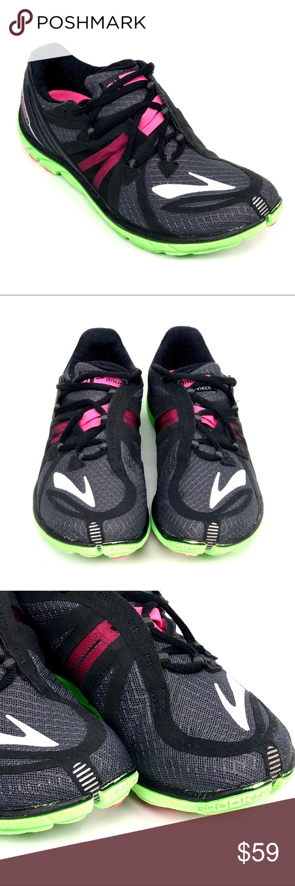 838d18e7cdd Brooks Pure Connect Running Shoes 7.5 Pink Green Women s Brooks  PureConnect2 Lightweight Running Shoes Size