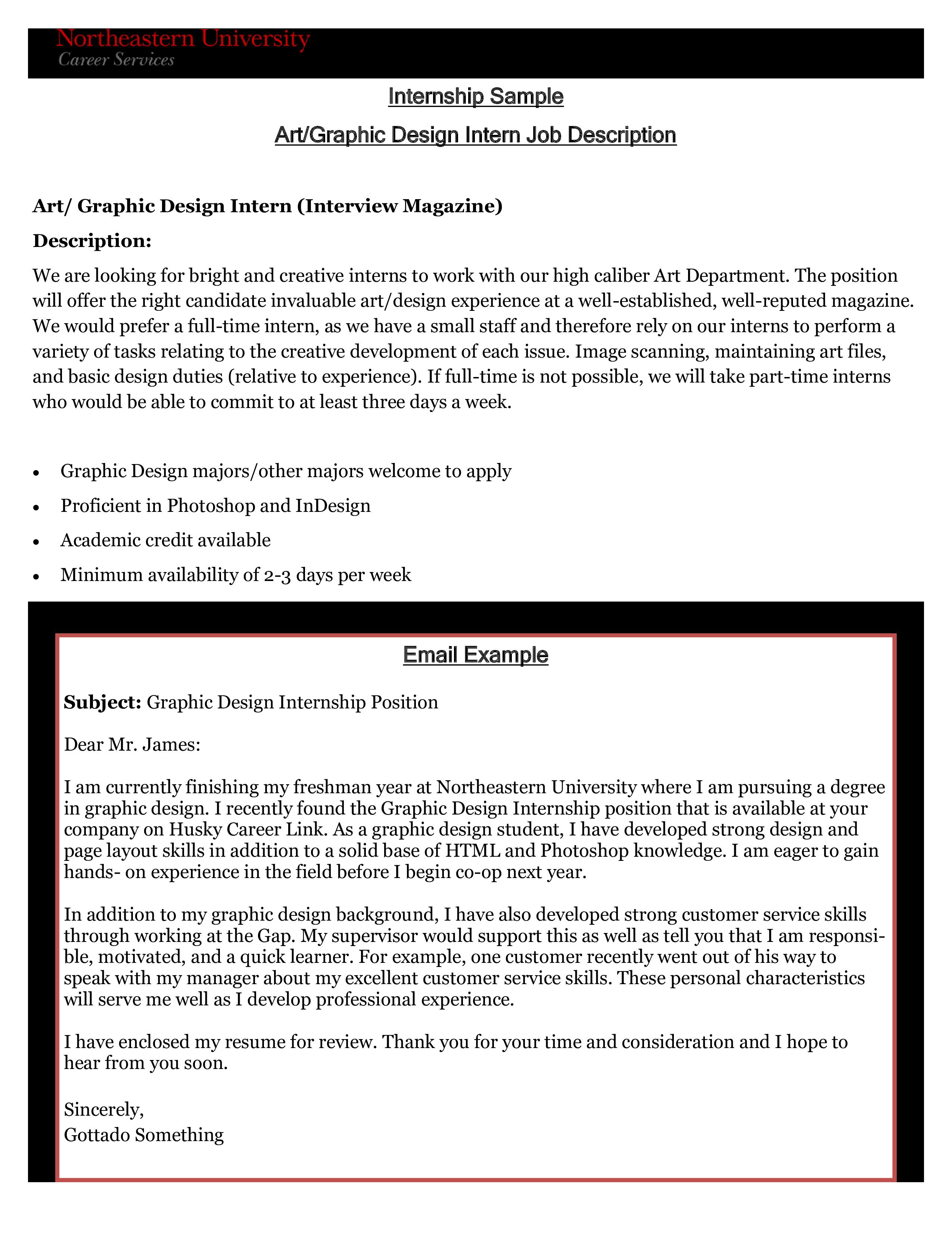 bra utseende detaljerade bilder leta efter Graphic Designer Internship Job Application Letter - How to write ...