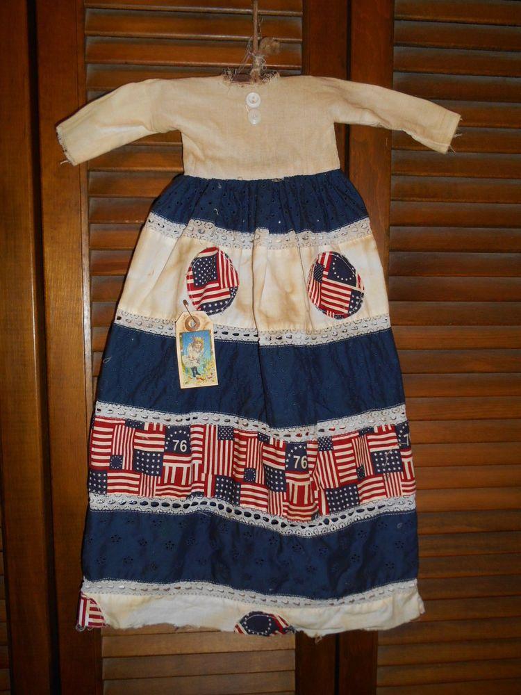 Country Grungy Prim WALL DRESS Primitive Decor PATRIOTIC 1776 Americana Flag