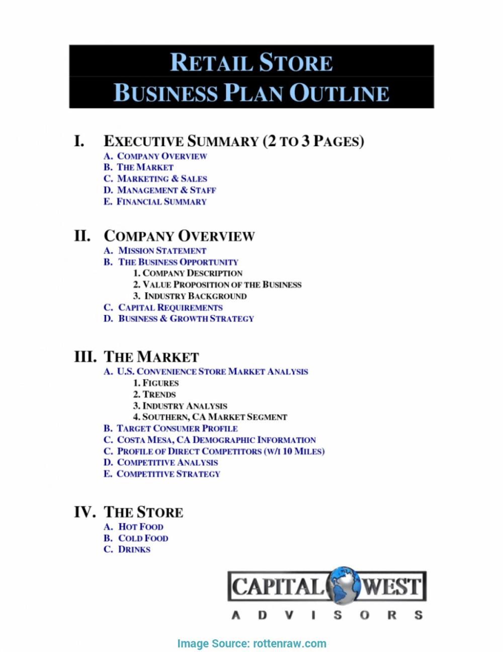Retail Business Proposal Template Retail Business Plan Template Business Plan Template Free Business Plan Template