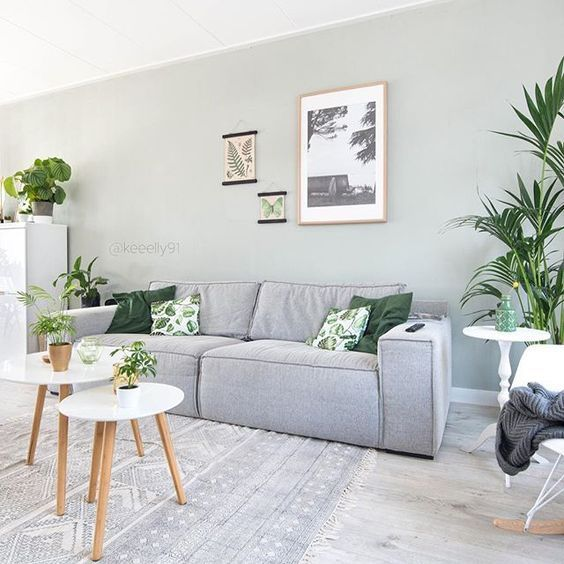 Pale Jade Green van Le Noir & Blanc Living room grey