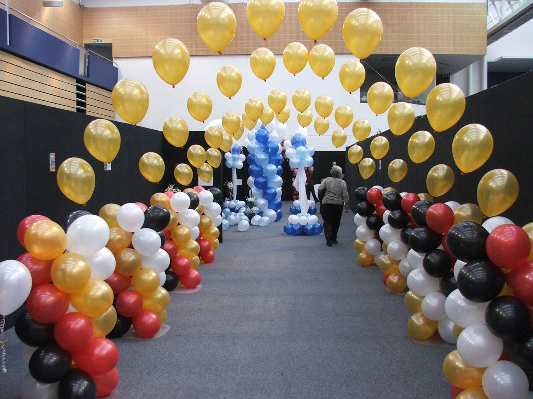 Balloon decoration ideas without helium for Balloon decoration ideas no helium