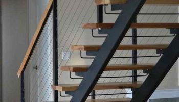 Double Stringer Steel Staircases With Wood Treads In Nyc Ct Acadia Stairs Stairs Staircase Lighting Ideas Straight Stairs