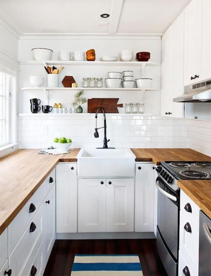 la cuisine blanche et bois en 102 photos inspirantes cuisine bois blanc cuisine bois et bois. Black Bedroom Furniture Sets. Home Design Ideas