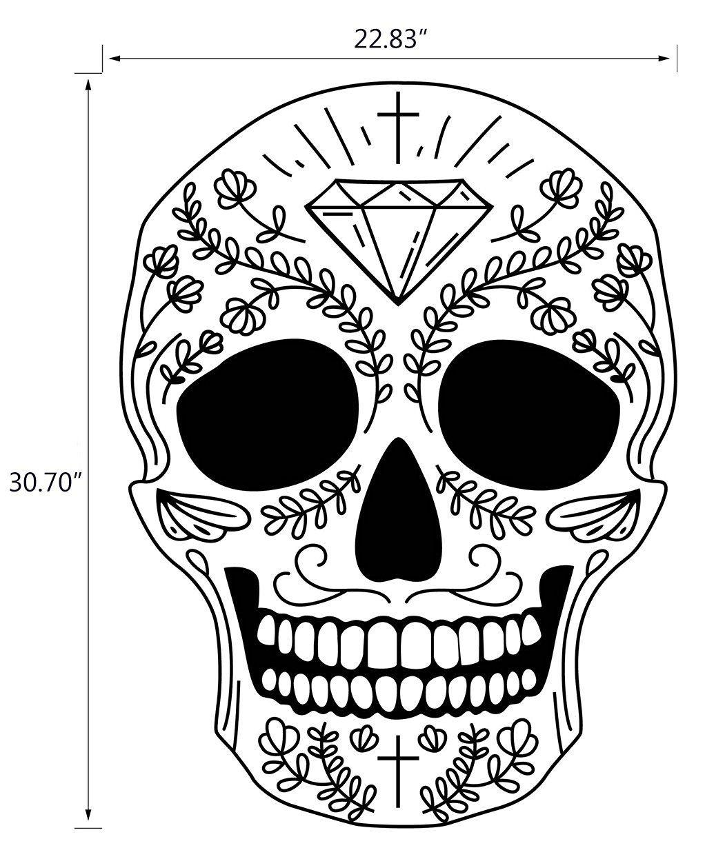Bestwoohome Skull Stickers Window Decal For Car Halloween Party Style 1 Kleurplaten Tatoeage