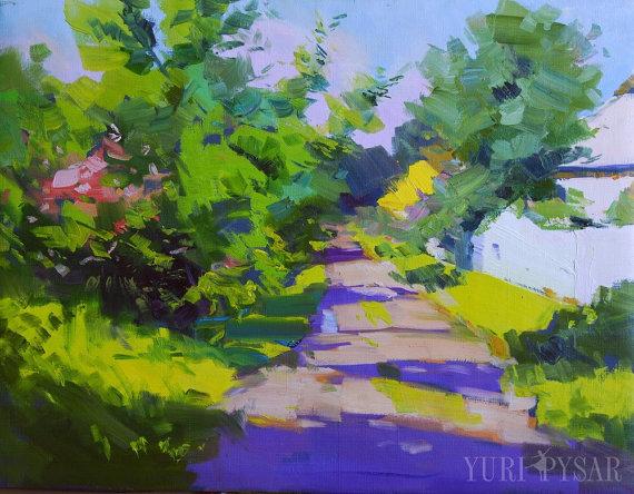Landschaftsmalerei impressionismus  Moderne Landschaftsmalerei, Sommer Gemälde Landschaft ...