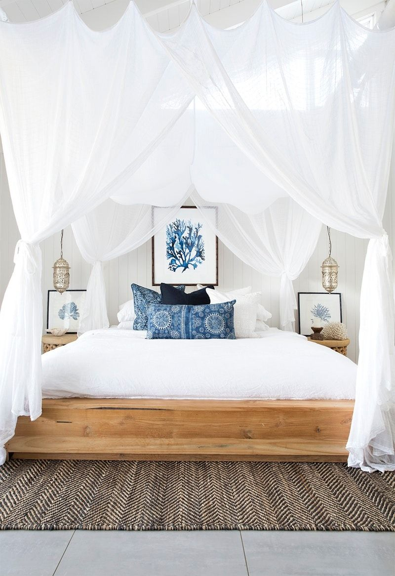 Use Flowing Linens Blue Accents Seashell Accessories To Transform Your Space Into Swoon Worthy Oasis