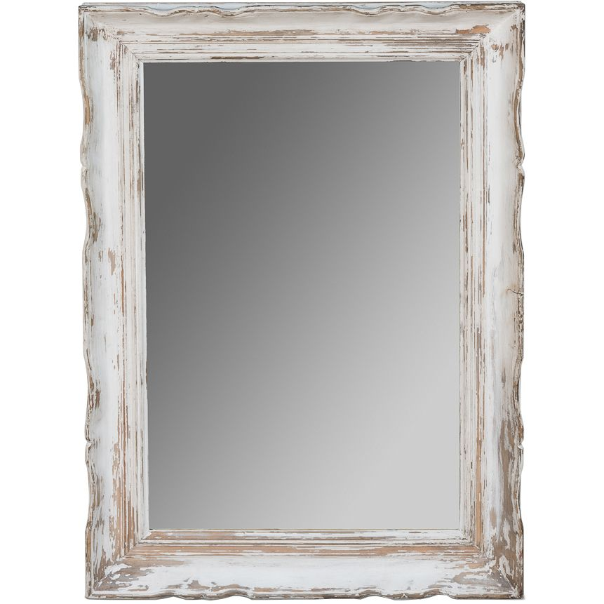 White Distressed Shabby Chic Mirror