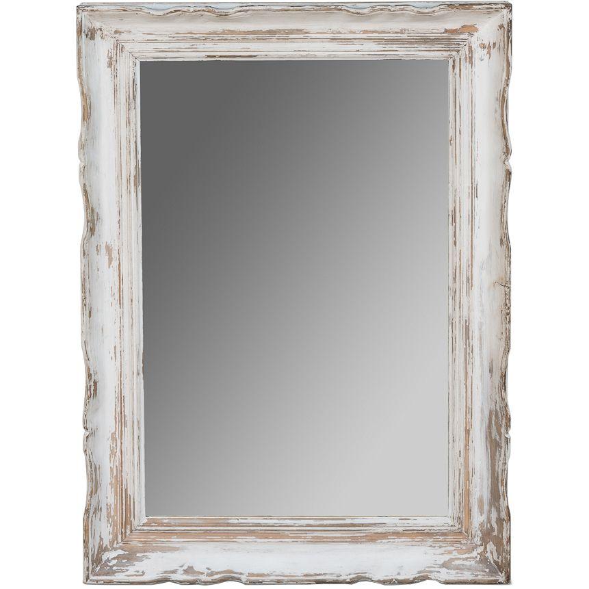 White Distressed Shabby Chic Mirror Rectangular Shabbychic Mirrors Distresseddecor Shabby Chic Mirror Rustic Mirrors Distressed Decor