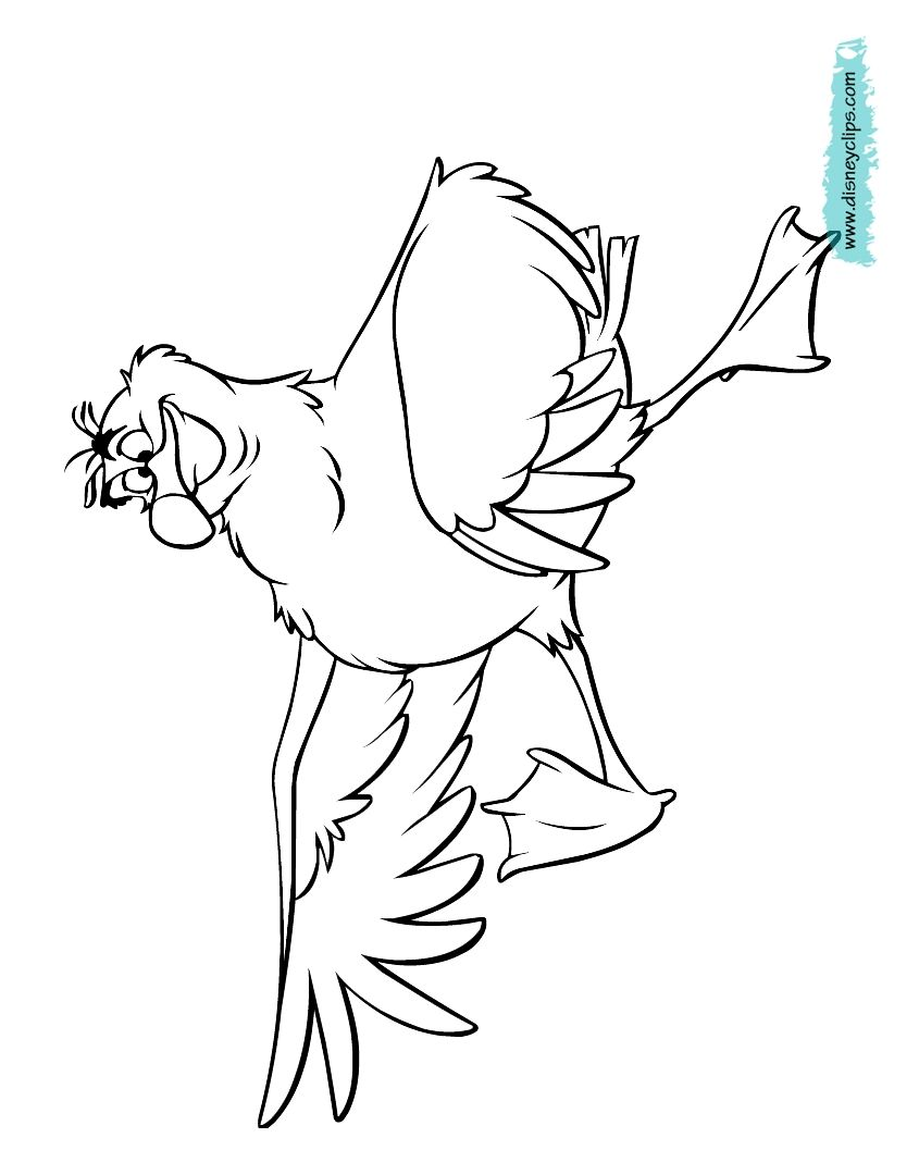The Little Mermaid Coloring Pages Scuttle | Coloring Pages in 2018 ...