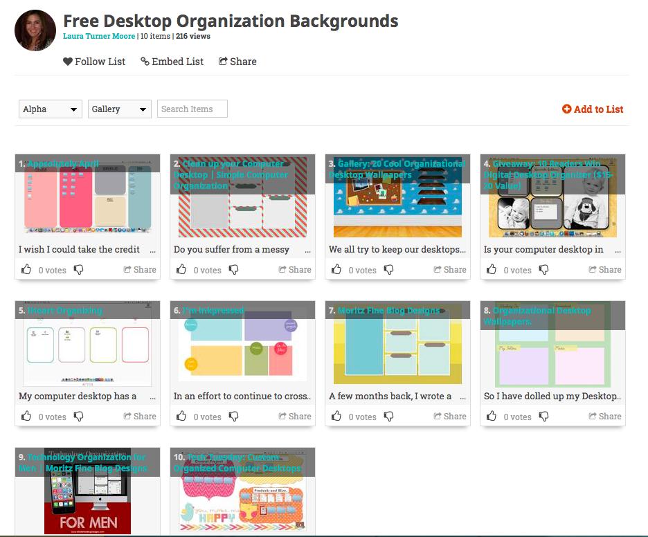 Kostenlose Hintergründe für Desktop-Organisationen! list.ly / ...