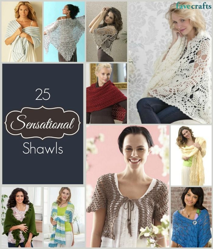 25 Sensational Shawls Free Patterns To Knit And Crochet Shawl