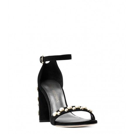 b8b57554ff4 Stuart Weitzman The Morepearls Sandal Suede Black  perfectpair  trending   Retro
