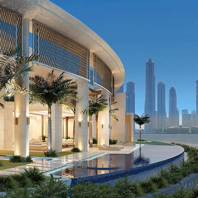 Luxury Home Modern House Design 3020: Overlooking The Dubai Marina Is This 8,500 Sq Ft Villa. A