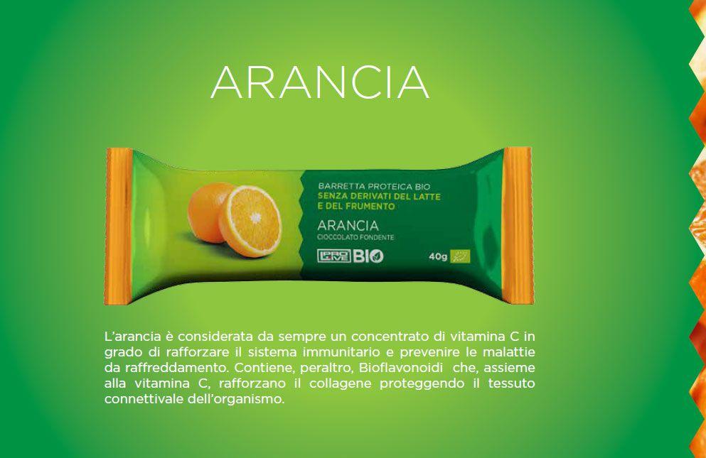 ARANCIA Prolive BIO - PROLIVE BIO Linea barrette proteiche nutrizionali