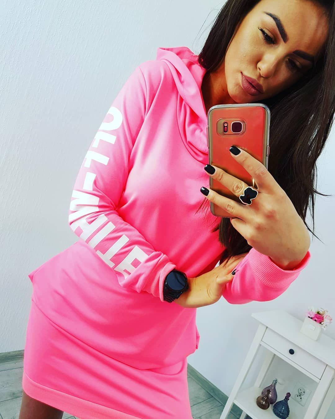 Športové šaty Off White ružový neon  56a45c9ac0f