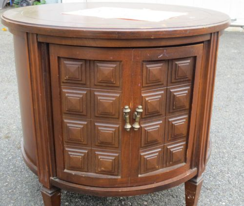 1970 S Style Round End Table Ebay End Tables Drum Side Table 1970s Furniture