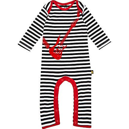 25fc6da953c2 Mini boys black stripe guitar sleepsuit £16.00