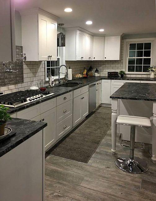 What Colour Countertops On White Kitchen Cabinets Pip: Tuscany White Kitchen Cabinets In 2019