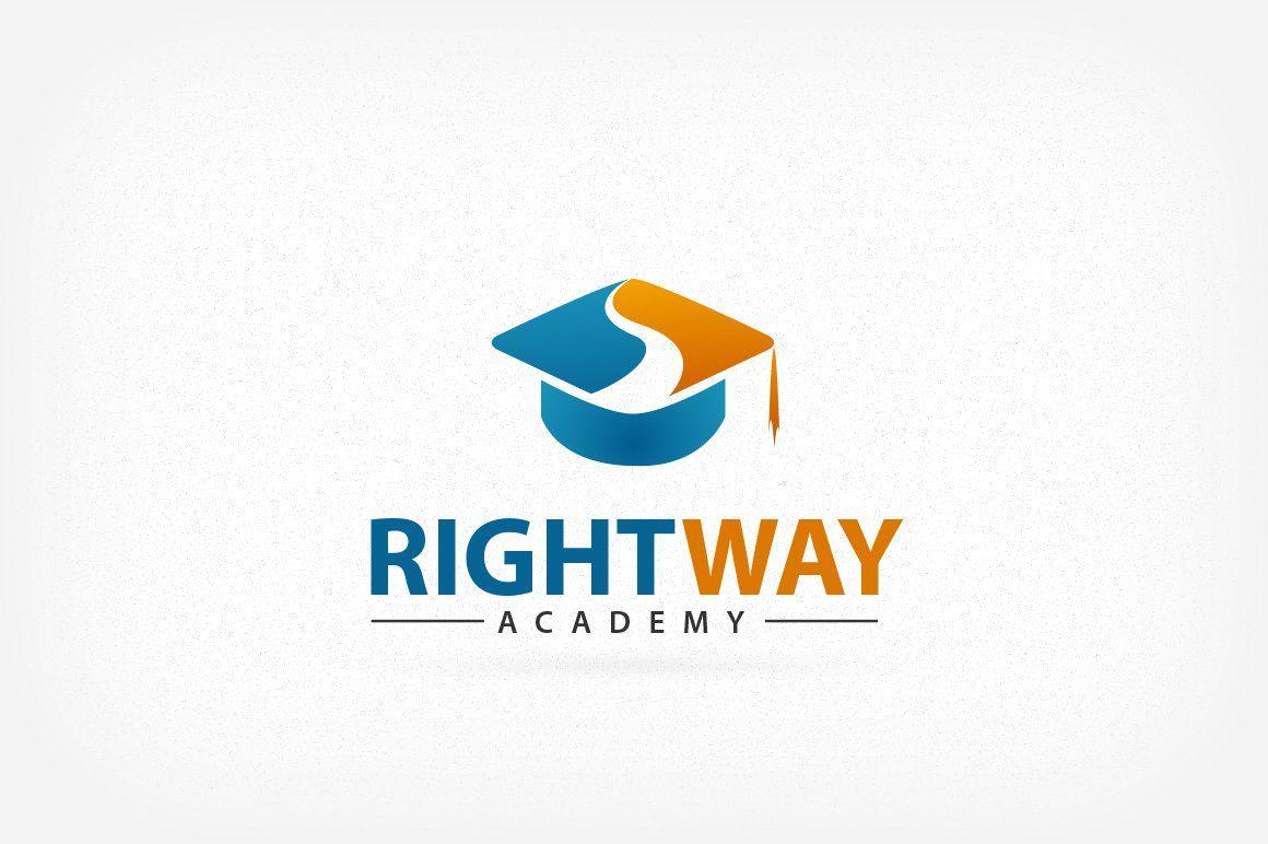 Right Way Academy Logo Academy Logo Education Logo Design Logo Design Process
