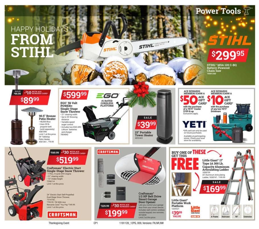 Ace hardware black friday ad scan deals and sales 2019