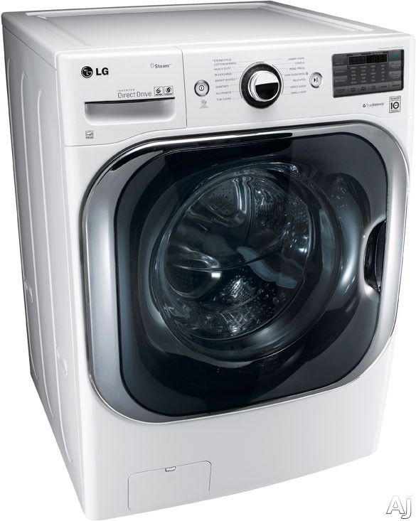 """LG WM8000HWA 29"""" Front Load Steam Washer with 5.1 cu. ft. Capacity, 14 Washing Programs, 5 Temperature Settings, TurboWash and Steam Technology: White"""