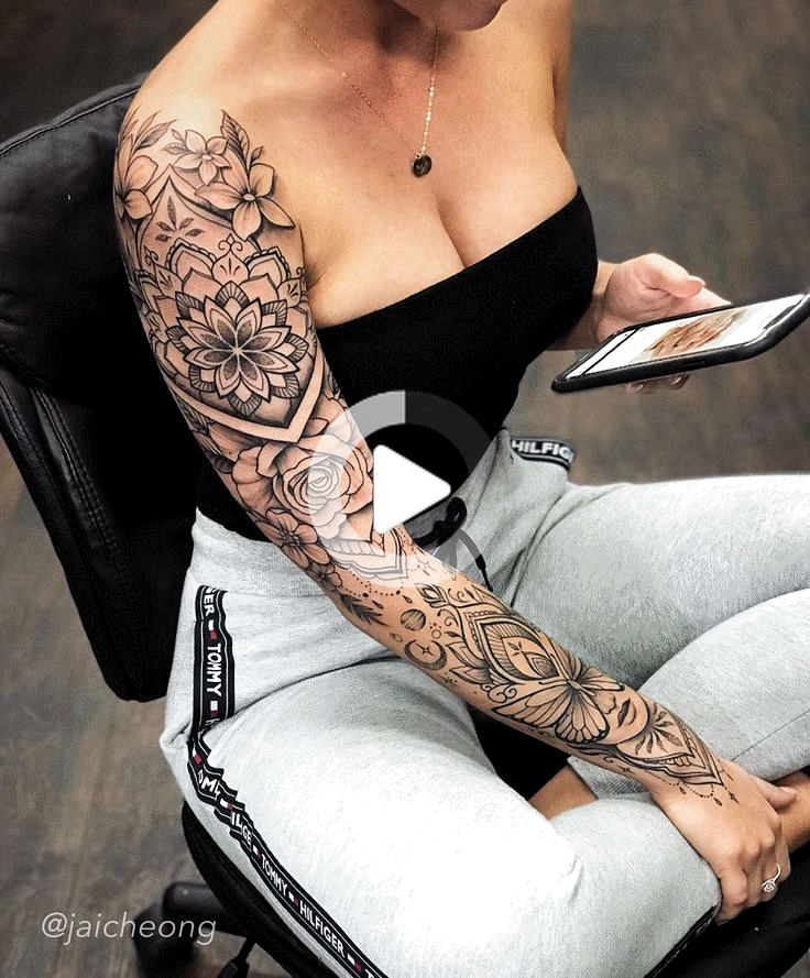 Sleeve Tattoos Vrouw Sleeve Tattoos Vrouw Geometric Tattoos Sleeve Tattoos For Women Sleev In 2020 Beautiful Tattoos For Women Tattoos Sleeve Tattoos For Women
