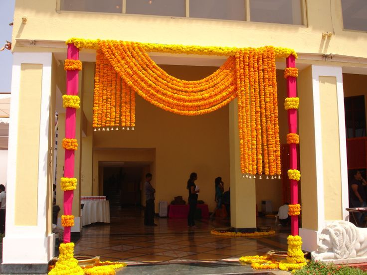 Wedding entrance decoration google search decor exec for Simple diwali home decorations
