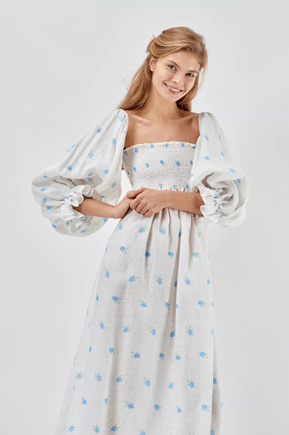 Atlanta Linen Dress In Linum Print Sleeper In 2020 Dresses Linen Dress Fashion [ 1503 x 1000 Pixel ]