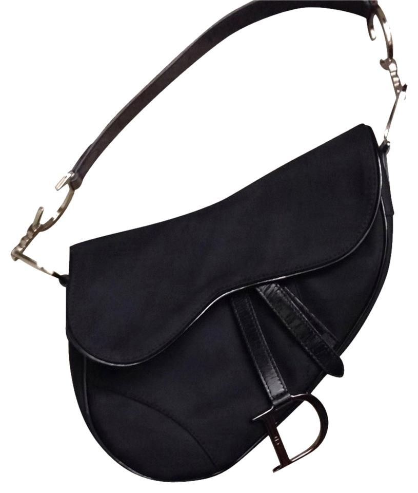 5d2b7a41381b I m thinking about selling my Dior Saddle bag in black canvas with silver  hardware