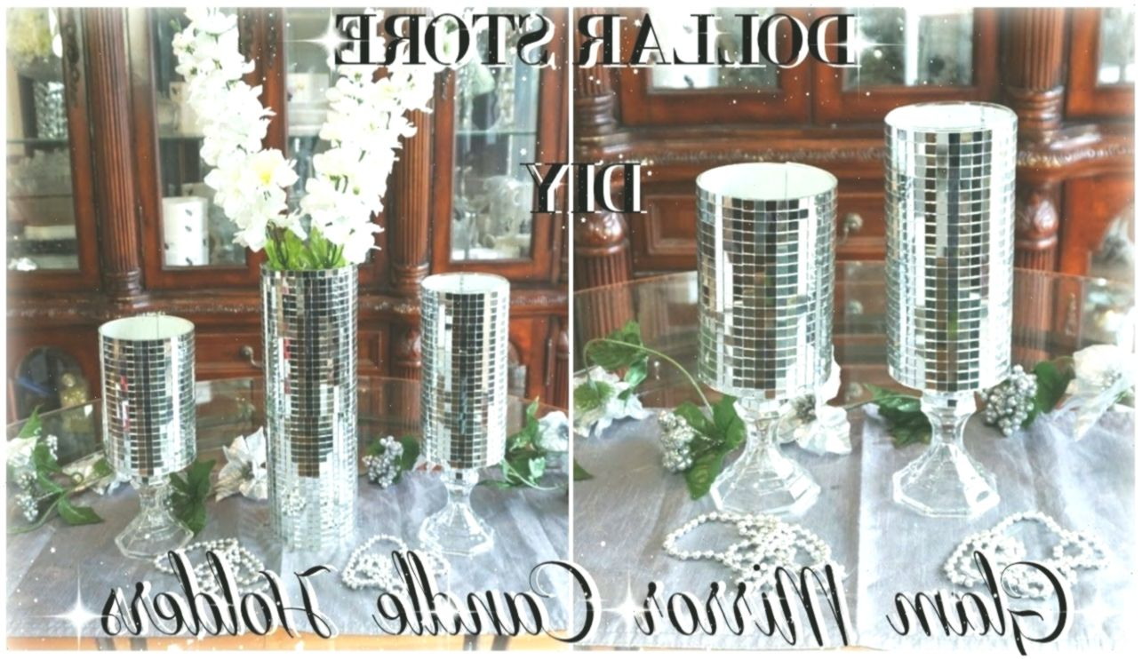DIY DOLLAR STORE | GLAM MIRROR CANDLE HOLDERS | DIY BLING ROOM DECOR | DOLLAR ST… Young Room