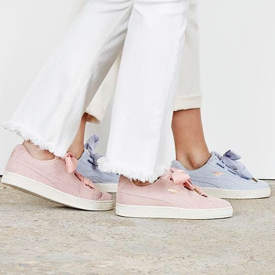 puma basket heart coral cloud