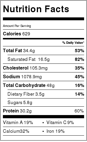 Easy Taco Bake Nutrition Facts Nutrition Nutrition Labels