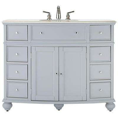 Home Decorators Collection Hampton Harbor 45 In W X 22 In D Bath Vanity In Dove Grey With Natural Marble Vanity Top In White Bf 23148 Dg Marble Vanity Tops Unique Bathroom Vanity Home