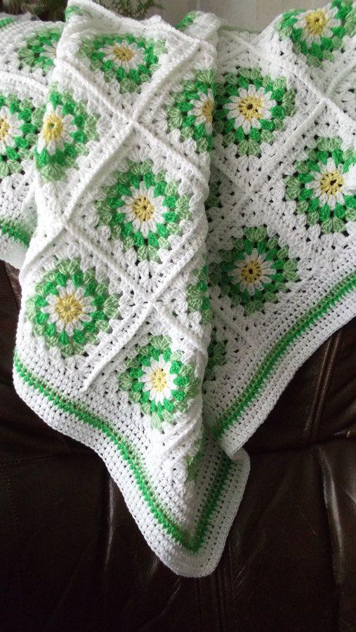 Granny Squares | Stuff I want to make | Pinterest | Manta, Colchas y ...