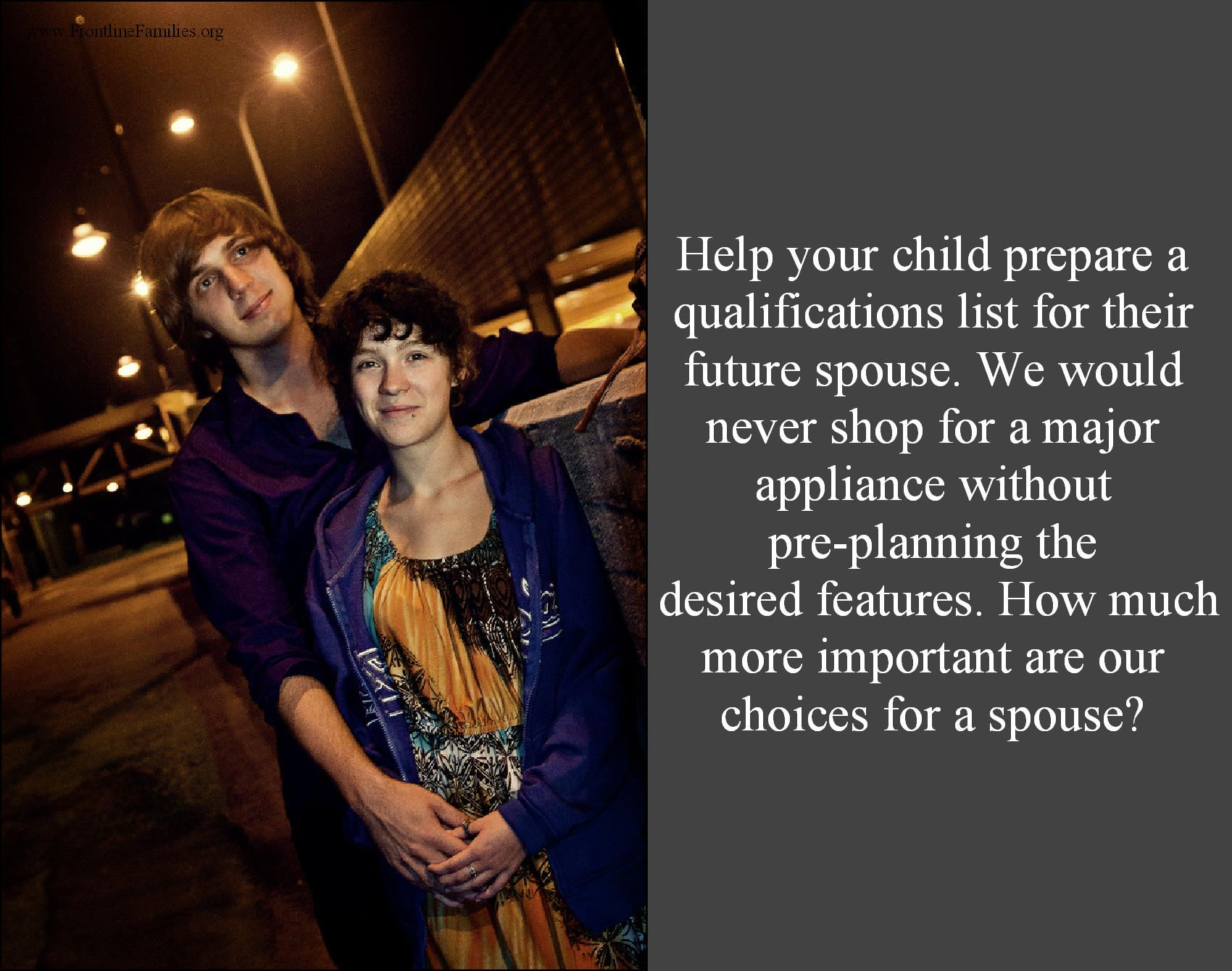 "Help your child prepare a ""qualification list""..."