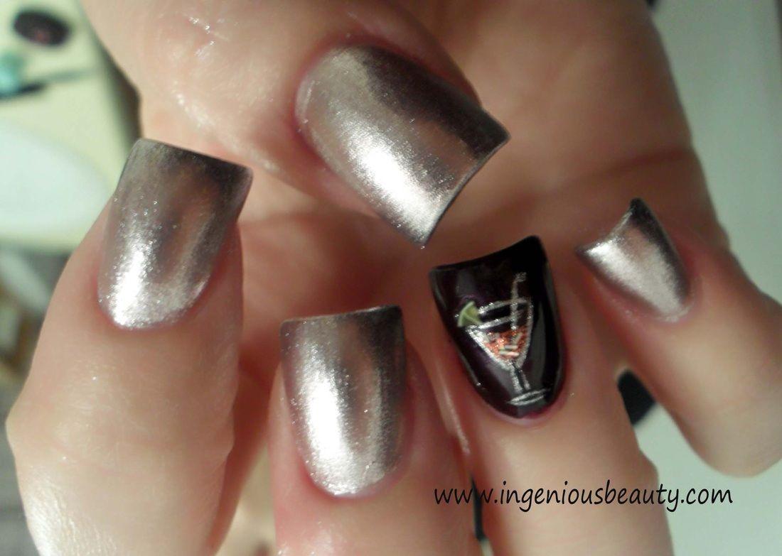 Martini nails | nails, nails, nails | Pinterest | Martini nails ...