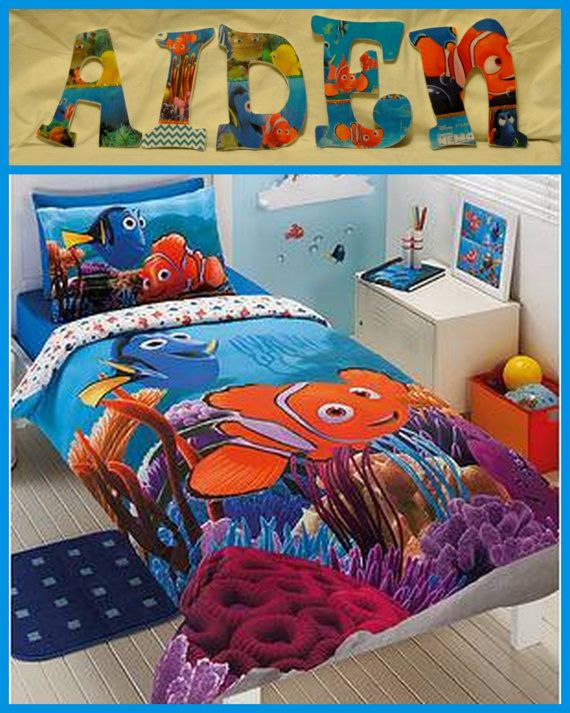 Finding Nemo Inspired Personalized Customized Wooden Letters For